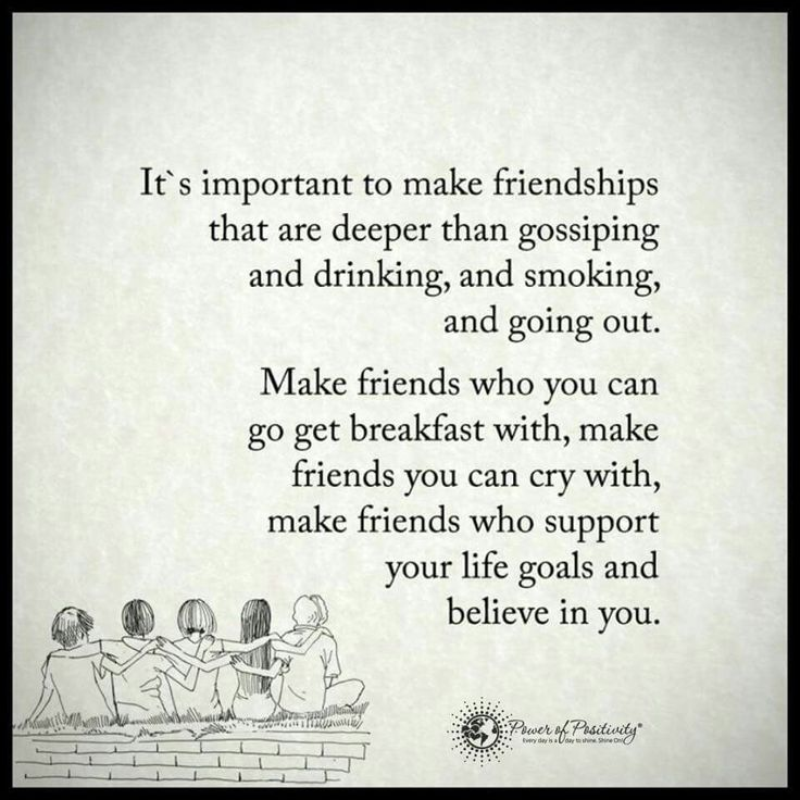 It's important to make friendships via Power of Positivity