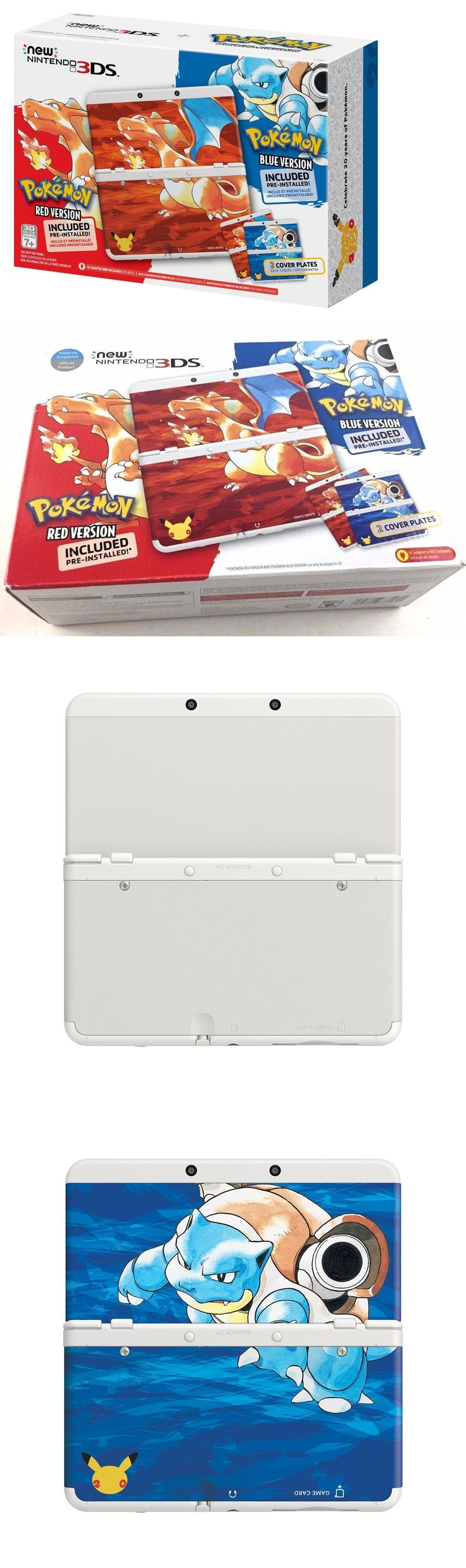 Video Gaming: New Nintendo 3Ds Pokemon 20Th Anniversary Red And Blue Edition Console Bundle BUY IT NOW ONLY: $290.0