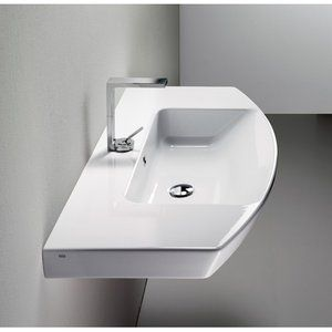 buy the ws bath collections gsi modo 5 l wall mount bathroom sink in white with overflow and faucet hole from homeclick at the discounted
