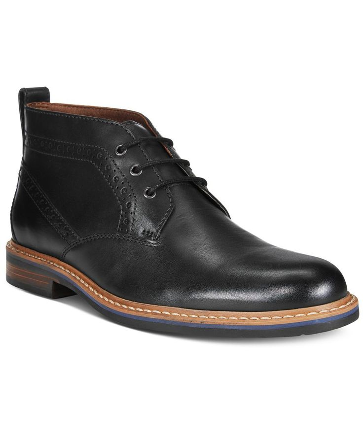 Accent casual Friday fare with these rugged, brogued chukkas from Bostonian.   Leather upper; rubber sole   Imported   Plain toe   Lace-up closure with metal eyelets   Heel tab for easy on and off   W