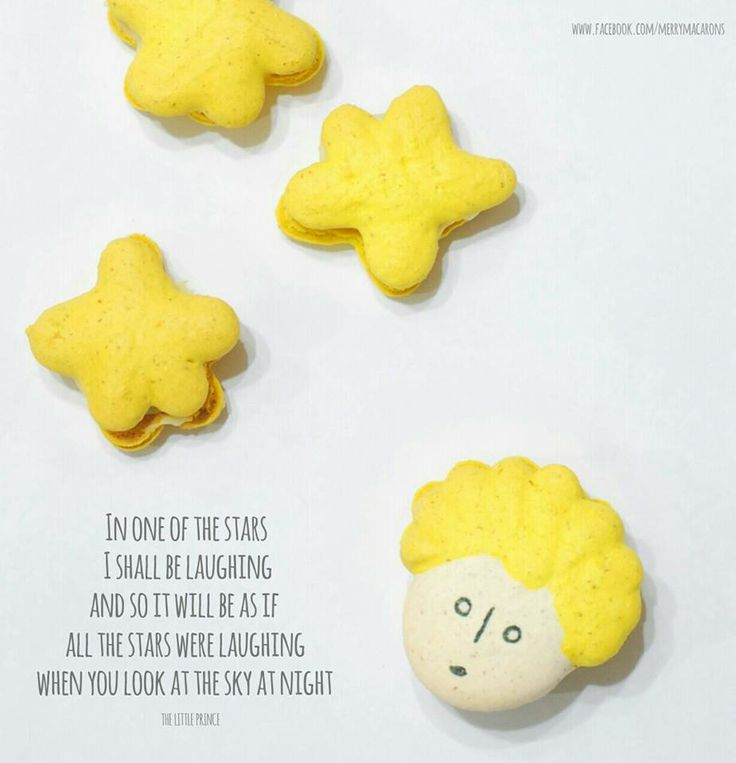 The Little Prince inspired macarons