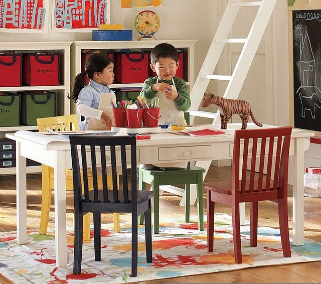 A Rectangular Teak Big Kids Table And Chairs Fits In Almost Any Interior. A  Rectangular Table You Can Put Against A Wall To Save Space. Then You Cau2026