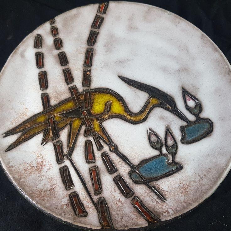 Keramik Wandteller Ruscha 717/1 1/2Pop art Fat Lava era WGP vintage 22,4cm    eBay