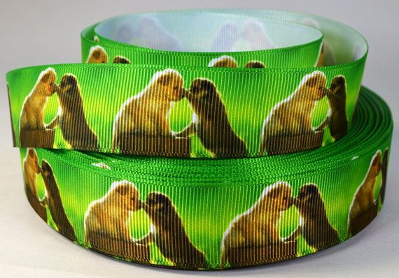 1 Puppy Dogs  Grosgrain Printed  Ribbon