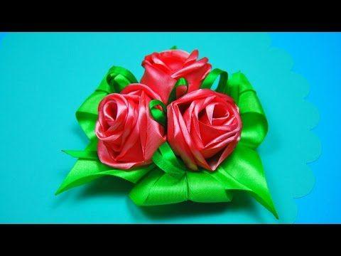 РОЗЫ из лент. Простой способ! Мастер-класс / Ribbon Rose Tutorial / ✿ NataliDoma - YouTube
