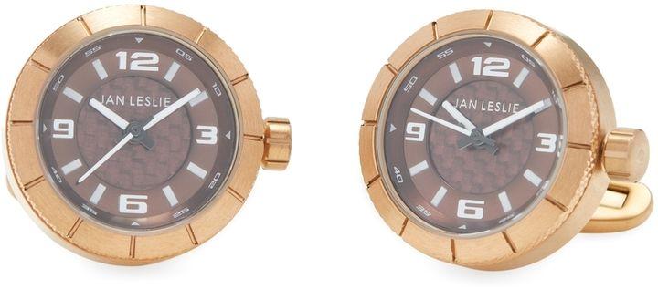 Jan Leslie Men's Watch Cufflinks