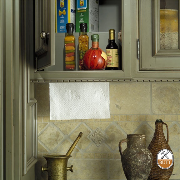 Keep Your Counter Clutter Free With This Hidden Paper Towel Storage  Solution ~ Paper Towel Roll Is Recessed Into The Bottom Of A Wall Cabinet.