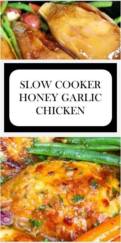 🍤🍤🍤 THE BEST SLOW COOKER HONEY GARLIC CHICKEN #keto >> #bread >> #easy