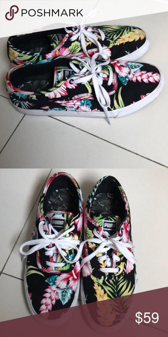 Puma sneaker floral design men size 10 Puma floral print design men size 10 Puma Shoes Sneakers