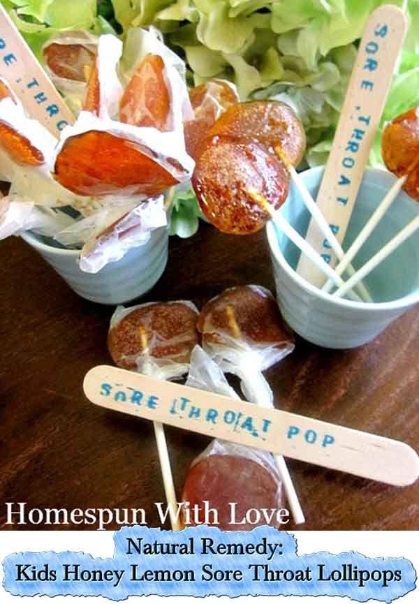 Natural Remedy: Kids Honey Lemon Sore Throat Lollipops