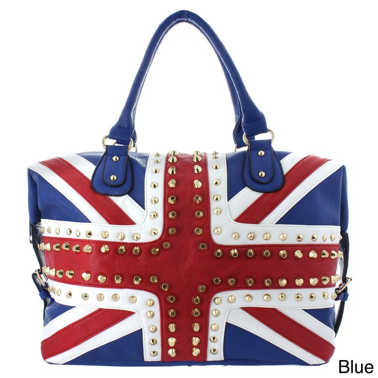 Oasis Handbag 'Gianna' Studded UK Flag Tote, Women's