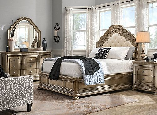 If You Love Living Life In A Grand Way Then The Genevieve 4 Piece Queen Bedroom Set Was Meant For You It S In 2020 King Bedroom Sets Bedroom Sets Queen King Bedroom
