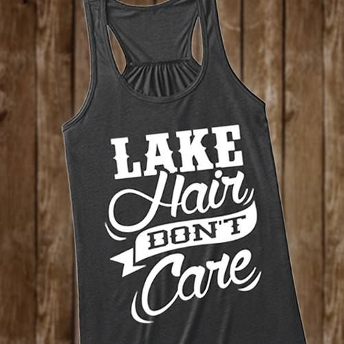 LAKE HAIR DON'T CARE #country #countrythang #countryshirt #countrythangshirt