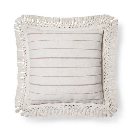 Cream Linen Stripe Oversized Throw Pillow - Threshold™ : Target