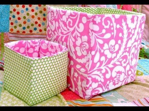 How To Sew A Fabric Box / Bin - YouTube