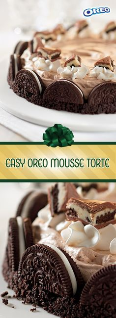 Make your season merrier with a creamy dessert that's great for a crowd. Made with crunchy classic OREO cookies, filled with creamy whipped topping and finished with crispy MILKA OREO Big Crunch Chocolate Candy Bar pieces, this easy torte is a great way to add delight to end a delicious holiday meal.