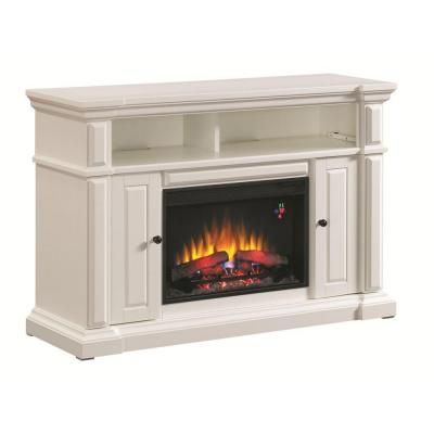 Chatham 56 In Media Console Electric Fireplace In White