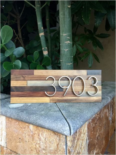 Reclaimed wood home address plaques by MMWoodWrks on Etsy