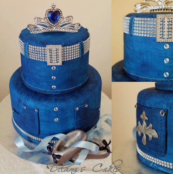 Denim texture cake