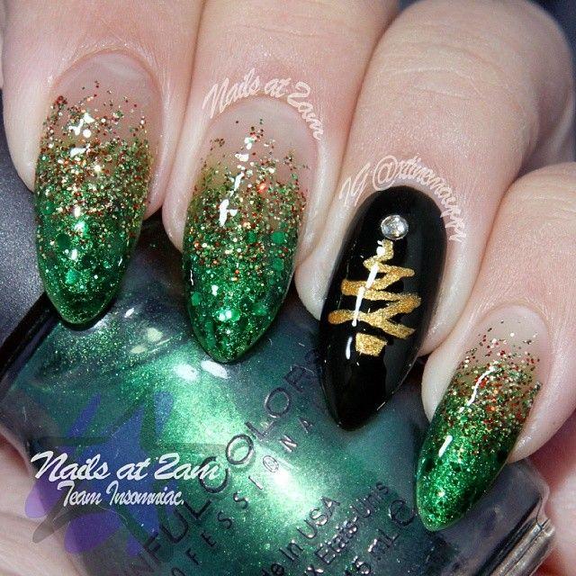 88 best Uñas,diseños navideños images on Pinterest | Christmas nails ...