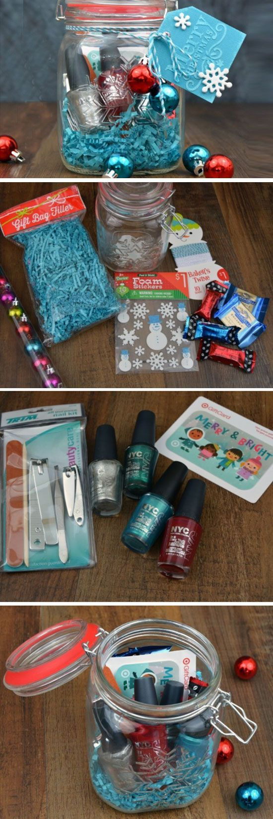 Hidden Gift Card Treasure | DIY Christmas Baskets for Teens:
