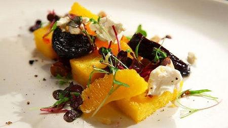 Polenta, Beetroot, Orange and Goat's Cheese Salad