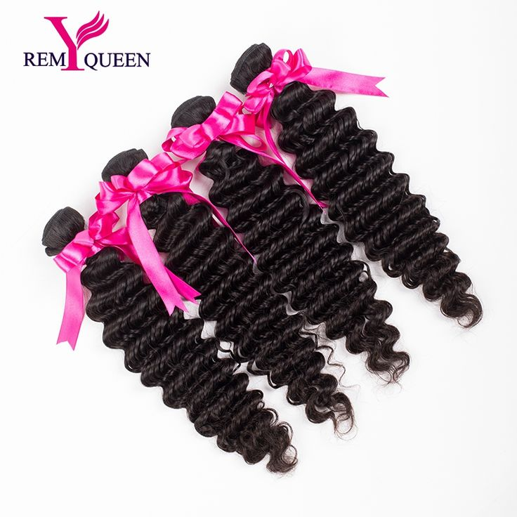 Best Selling 7A 4 Bundles Natural Black 8-30 inch Deep Wave Unprocessed Brazilian Virgin Hair Extension in stock