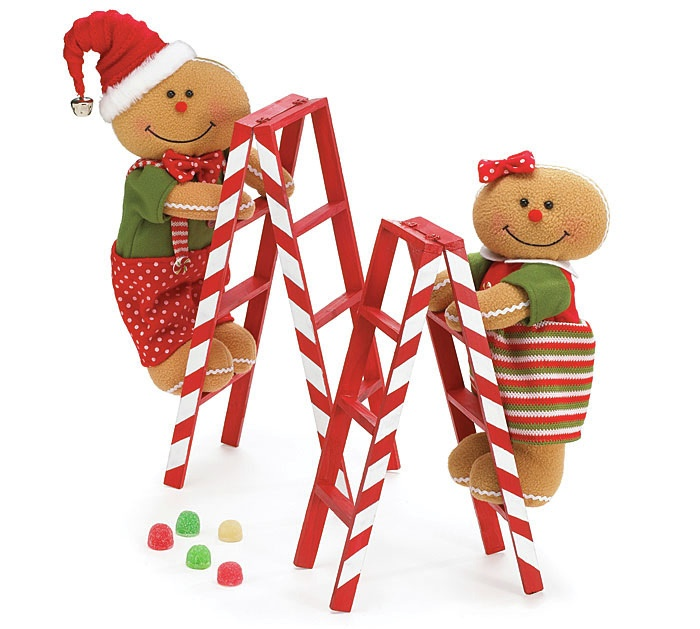 Christmas Gingerbread with Candy Cane Ladders 2 Cute!