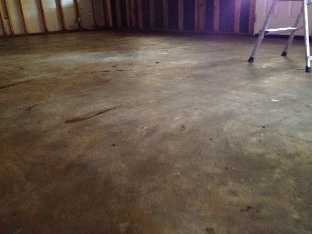 Remodel week 3 cleaning old concrete floors remodel for What to clean concrete floors with