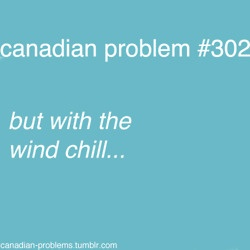 "Canadian Problems - Those fateful words that tell us the ""REAL temperature"" outside our doors."