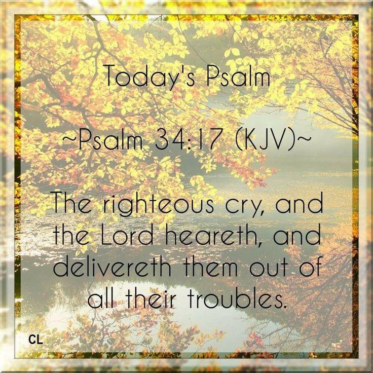 Psalm 34:17 KJV
