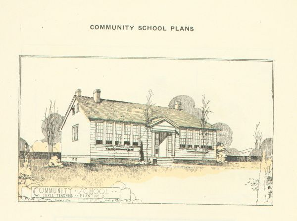 From the Community School Plans, Bulletin No.3 Issued by The Julius Rosenwald Fund Nashville, Tennessee, 1924
