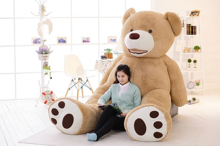 "hot sale Huge Giant Teddy Bear 93"" 8 Feet 240cm High Quality Plush Toys Birthday Valentine's Day Girlfriend Gifts FREE EMS"