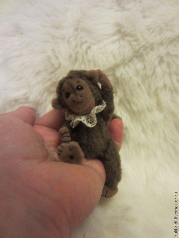 Купить Чита - коричневый, обезьянка, обезьяна, мартышка, авторская ручная работа, коллекционные игрушки, миниатюра