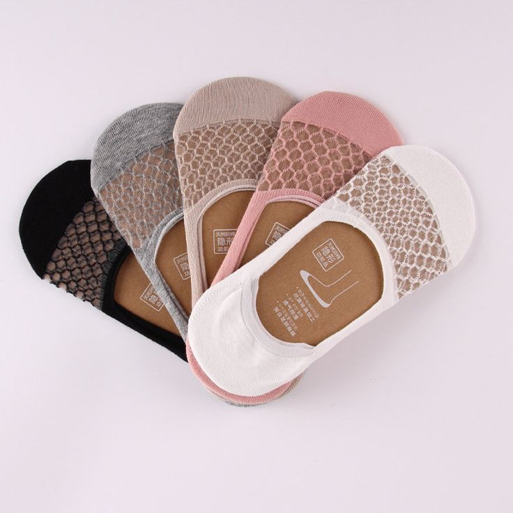 Women Summer Mesh Transparent Invisible Antiskid Boat Sock Breathable Shallow Low Cut Socks