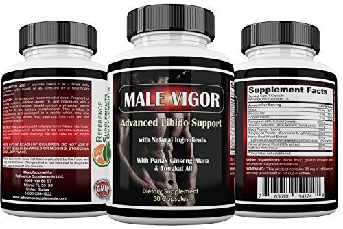 Male Vigor Natural Testosterone Supplements - Best Testosterone Pills - Testosterone Booster With Tongkat Ali, Horny Goat Weed, Maca Root and Tribulus - 100% Money Back Guarantee -- Check out the image by visiting the link.