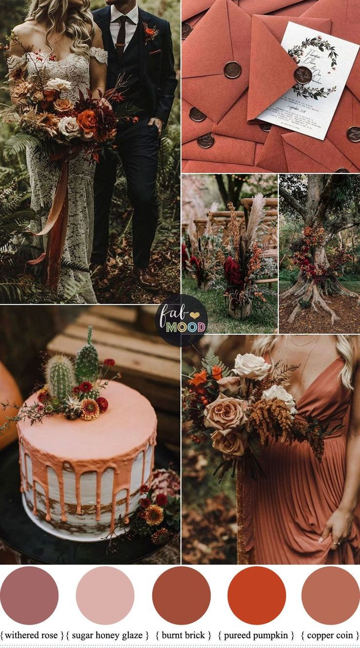 Rust color combinations for autumn wedding in 2020 Fall