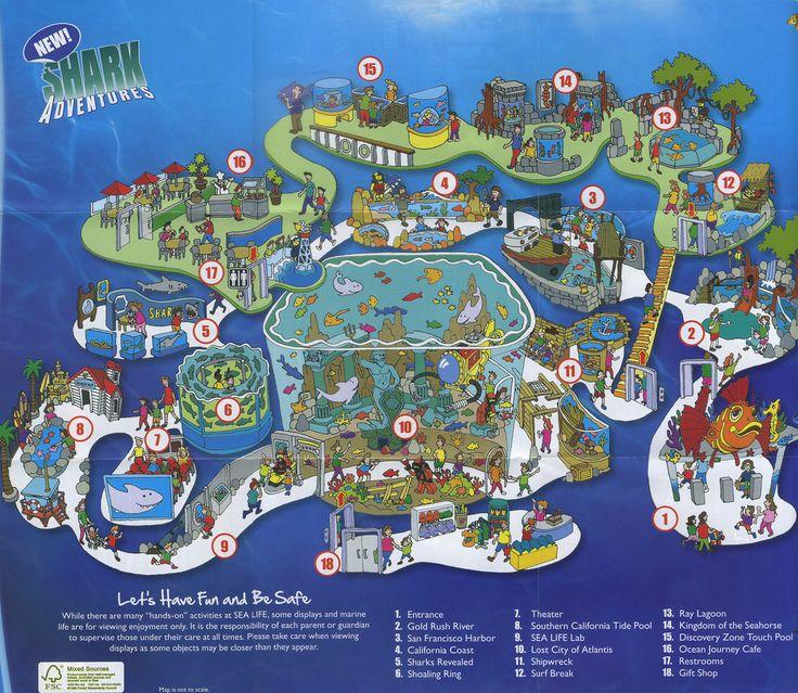 Sea Life Aquarium  2011 Map | Maps for Kids | Map diagram