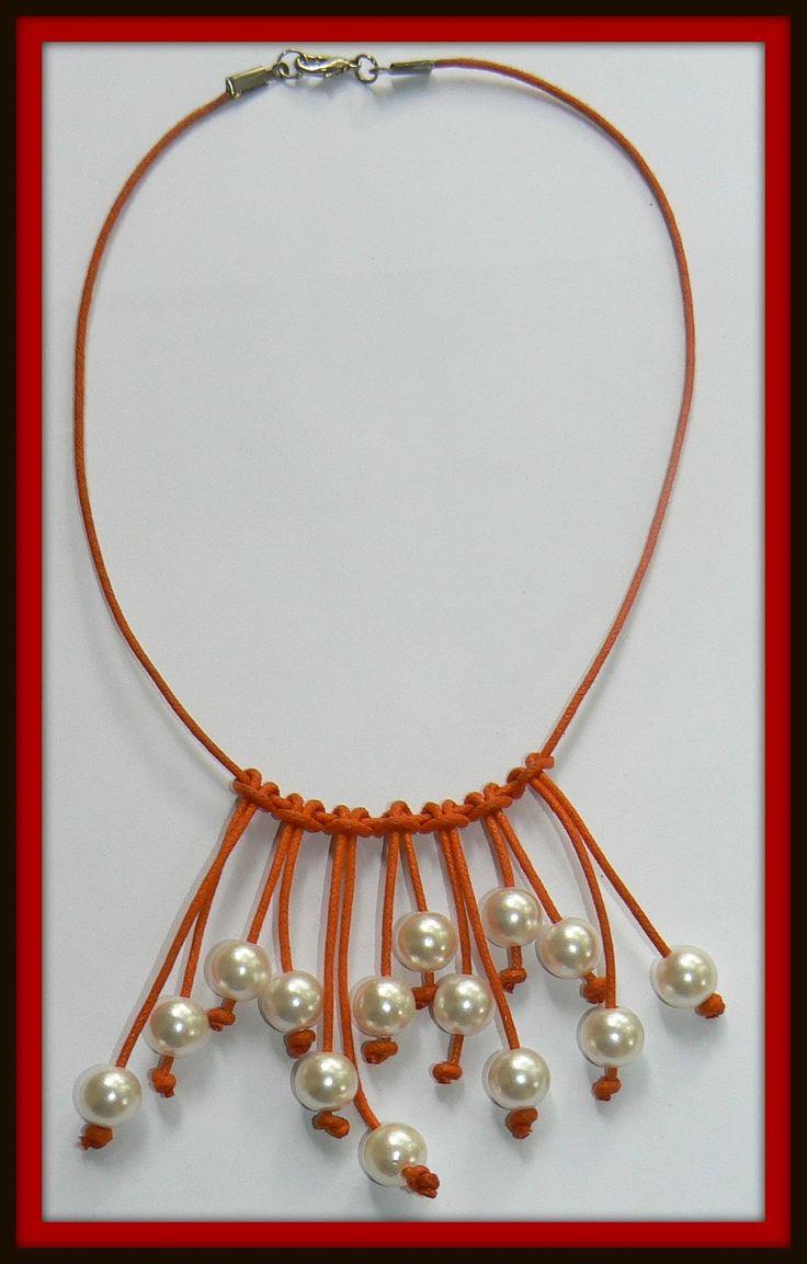 Como Hacer Collares De Perlas | collar Cuero perlas