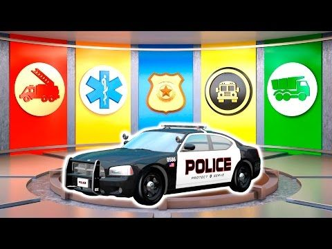 learn vehicles fire truck police car colors transport for toddlers videos for
