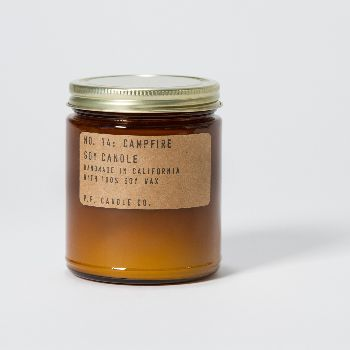 PF Candle Co Scented Candle Campfire L: P.F. Candle Co. scented candle. Hand poured in California. 100% soy wax.