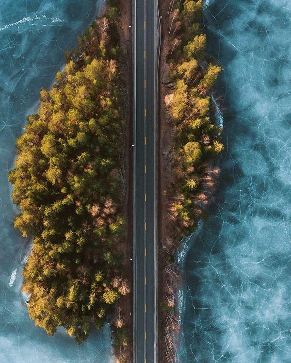 Замерзшие дороги в Норвегии