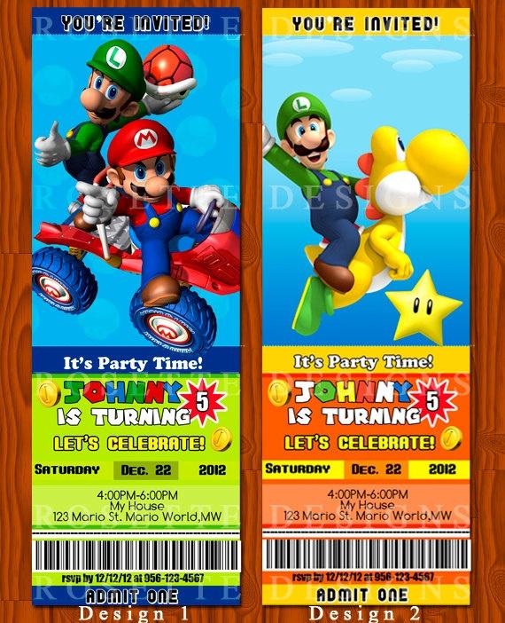15 best Super Mario Invitations images on Pinterest Mario birthday