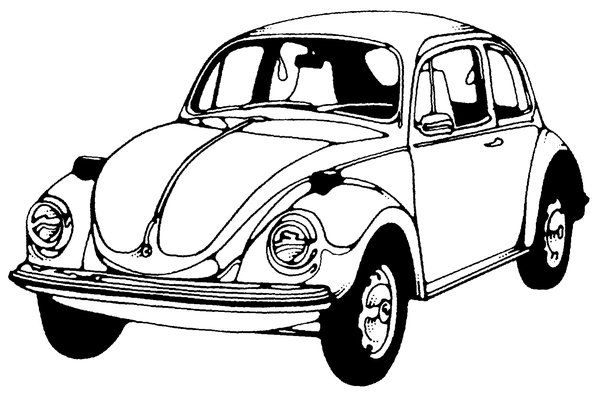 Black And White Drawing Of A Classic Car Please Like My Facebook