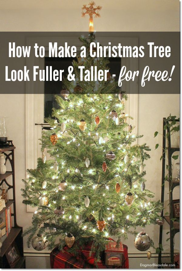 How To Make A Christmas Tree Look Fuller And Taller On Budget Hacks Small Trees Frugal