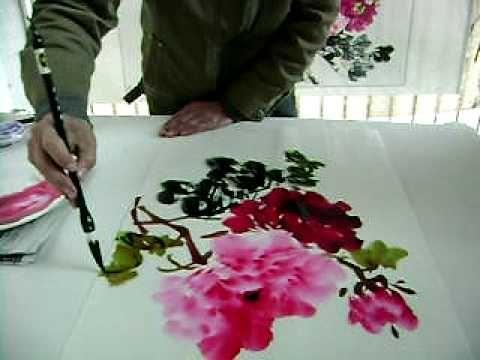 chinese brush painting instruction lesson