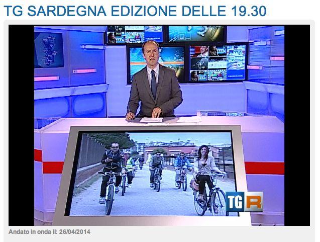 Il servizio del TGR 3 (dal 17' 30'' http://bit.ly/RXVJxK sulle #invasionidigitali in bicicletta a #Cagliari #invasionibikeCA #invasionisardegna