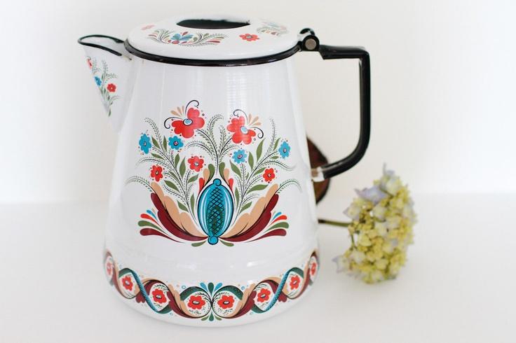 Classic Swedish Design Flower Kettle via Etsy.