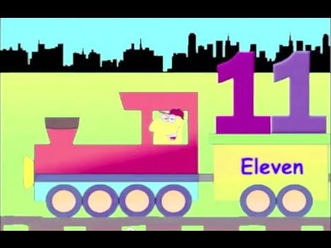 Number Train, 11 to 20 - learning train numbers for kids