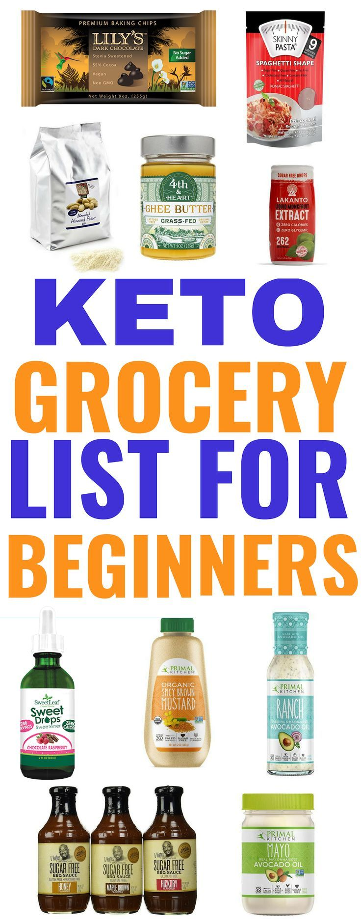 Keto Grocery List For Beginners - Simple Grocery List Guide | Keto Diet Suplement 1